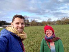 Dog walk in Oxford meadows
