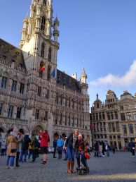 Sal and I at the Grand Place