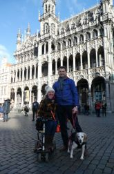 Family photo at the Grand Place