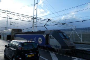 The Eurotunnel train