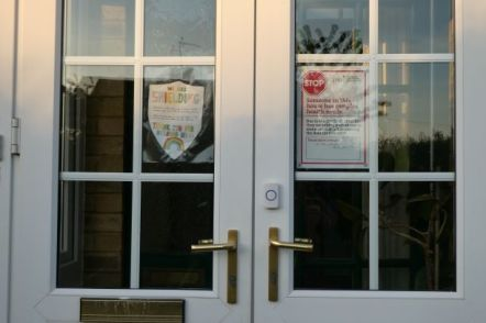 Signs on our door